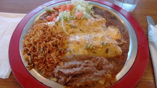 Englewood, CO: Chicken/Beef Enchiladas
