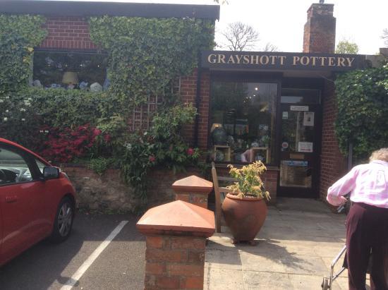 Grayshott Pottery: Pottery entrance
