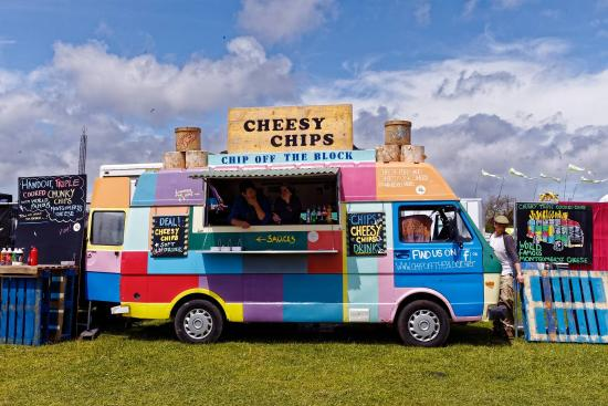 North Cadbury, UK: Another sunny day at Chip Off The Block at the Isle Of White Festival