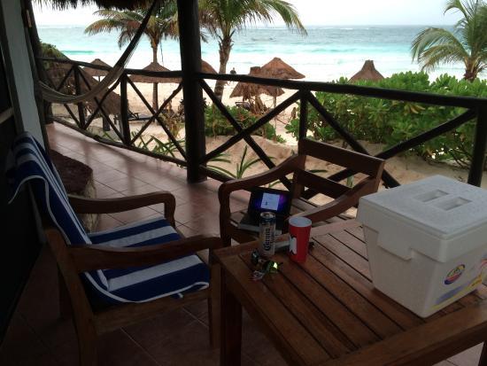 La Vita e Bella: terrasse privée du bungalow