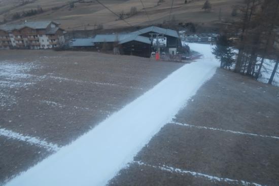Savoie, Francia: 人工雪のコース