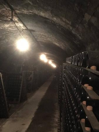 Great Western, Avustralya: The Drives, atmospheric tunnels beneath the winery, where 150 years of sparkling wine has mature