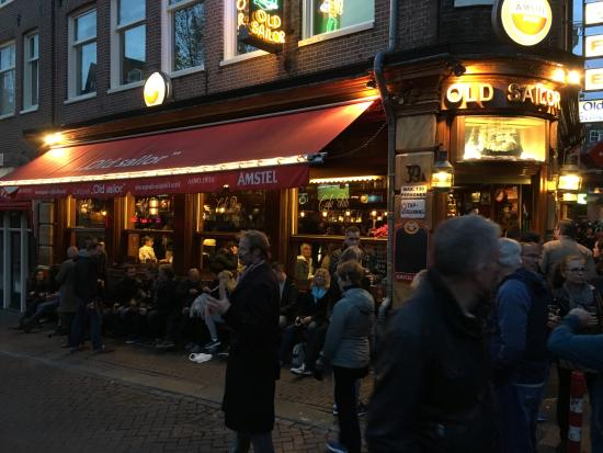 Amsterdam red light district old sailor pub at night picture of amsterdam red light district old sailor pub at night aloadofball Image collections