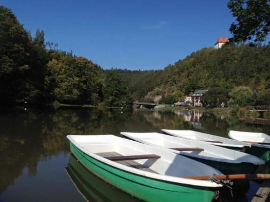 Ziegenrück, Jerman: Bootsverleih an der Saale