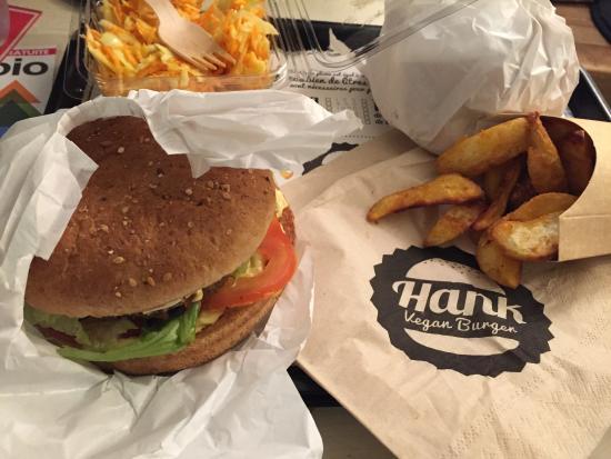 picture of hank burger paris tripadvisor. Black Bedroom Furniture Sets. Home Design Ideas