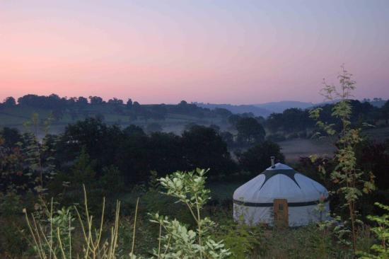 Dolanog, UK: Sunrise at The Secret Yurts