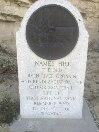 La Barge, WY: Names Hill