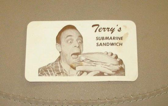 Terry's Sub Shop: Terry's Original Punch Card
