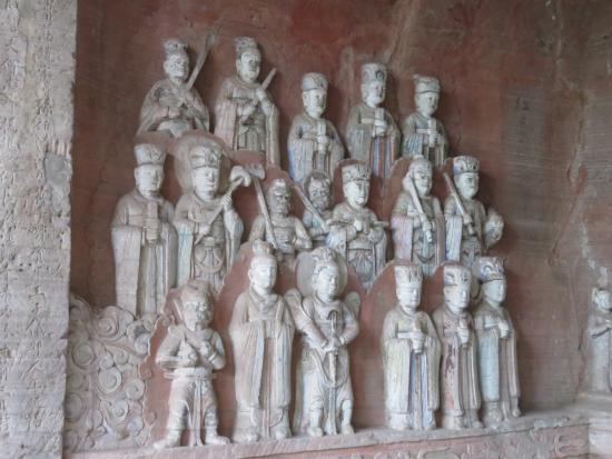 Dazu County, China: Group of attendants.