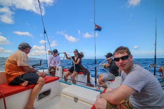 Simpson Bay, St Martin / St Maarten: Sail La Vie Charter to Anguilla
