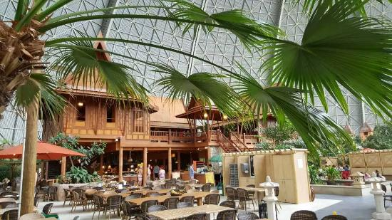 Tropical Islands Resort One Of The Restaurants Serving Ok Breakfast And Reasonable