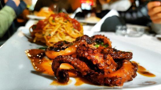 Sant'Agnello, Italy: Amazing octopus with pasta