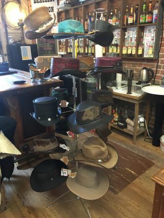 Brevard, North Carolina: Hat shopping at Hunter Gatherers