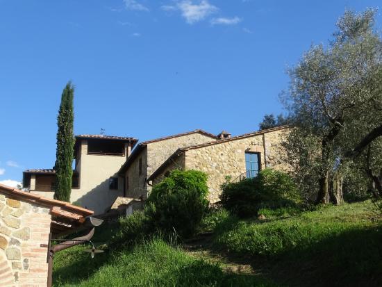 Agriturismo La Busca: vue sur les appartements et la tour de laquelle il y a une vue imprenable
