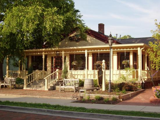 Grapevine Cottage at 61 South Main Street in Zionsville, Indiana.