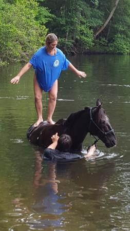 Fort Mc Coy, FL: Just before the dismount into the water!!
