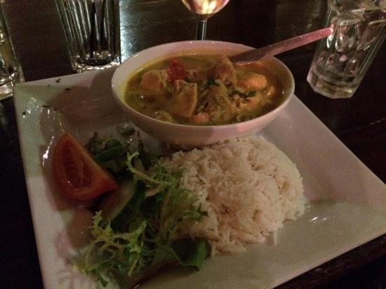 606 Club: Thai chicken curry served with rice