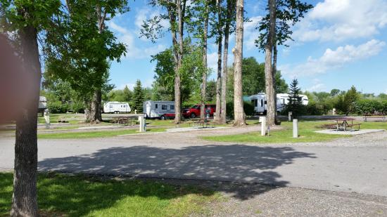 Bozeman KOA: Some of the spaces for RV's at KOA