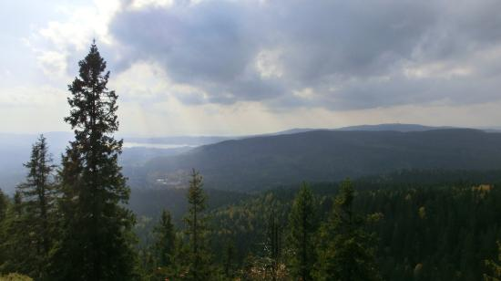 Oslomarka: View from Mellomkollen towards south.