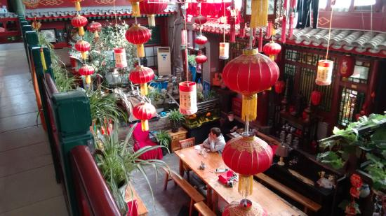 Red Lantern House: This is the open plan dining area from the balcony.