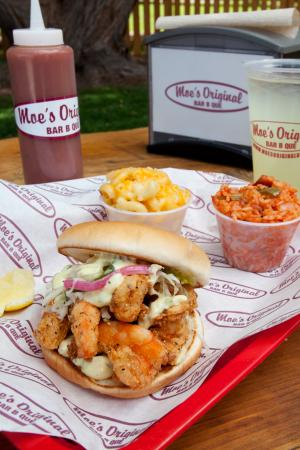 Moe's Original BBQ: Shrimp Sandwich
