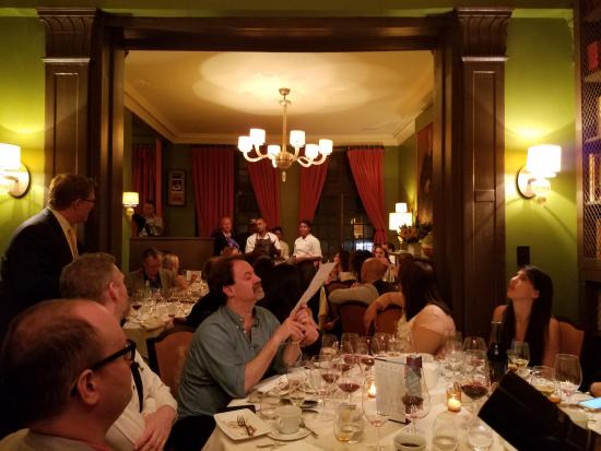 Upstairs Dining Room With Chefs Speaking Picture Of James Beard