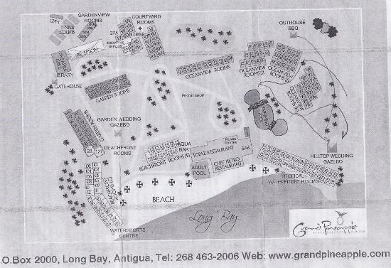 Willikies, Antigua: Resort Map