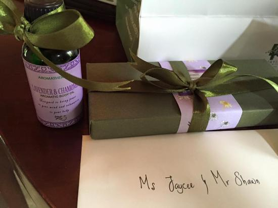 Cyberjaya, Malaysia: Thoughtful gifts to us for our post wedding celebration!