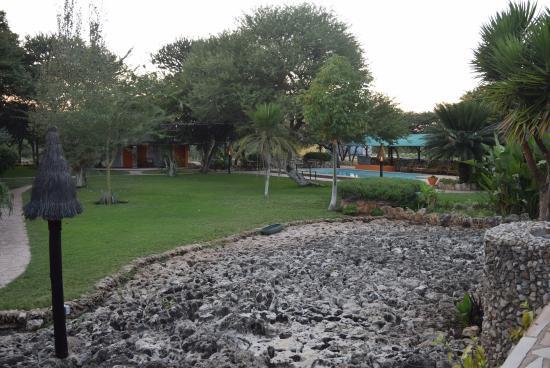 Kaoko Otavi, Namibia: Pool in the distance