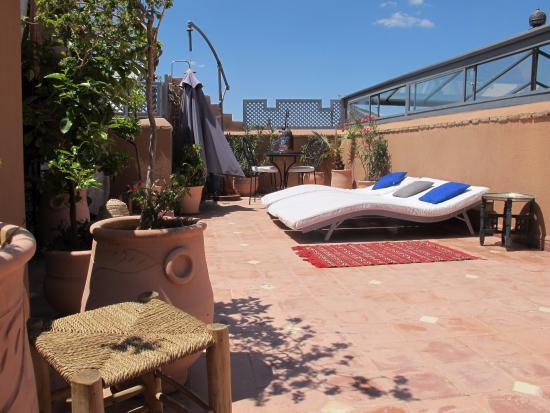 Riad dar azul terrazzo sul tetto