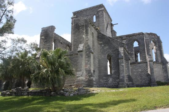 Unfinished Cathedral: Only the stone walls are left intact