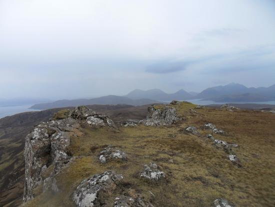 Isle of Raasay, UK: From the summit of the mountain