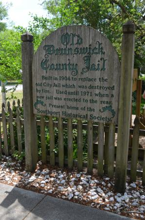 Old Brunswick County Jail Museum: Sign