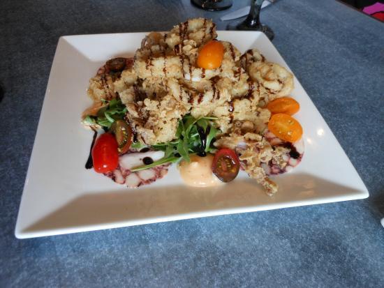 Riverwalk Restaurant The Calamari With Octopus Salami