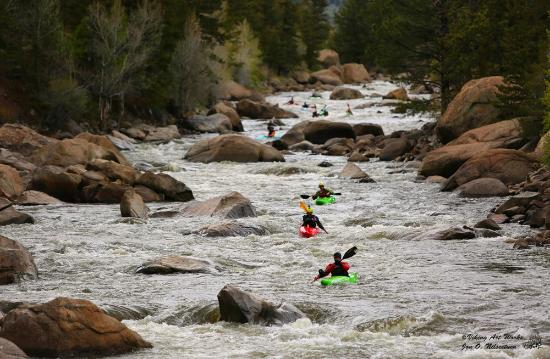 Buena Vista, CO: Kayking down the Arkansas River