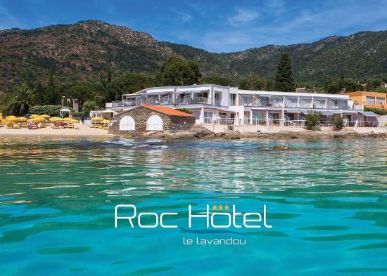 Le Roc-Hôtel vu de la mer