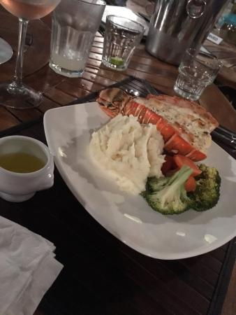 Paradise Bay Bahamas: Grilled lobster and ground photos