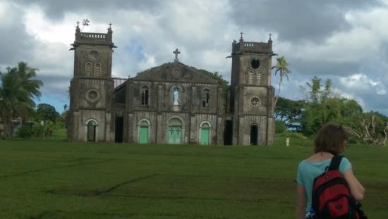 Nausori, Fiji: The Cathedral from the front. I can find no record that this was ever a Missionary School