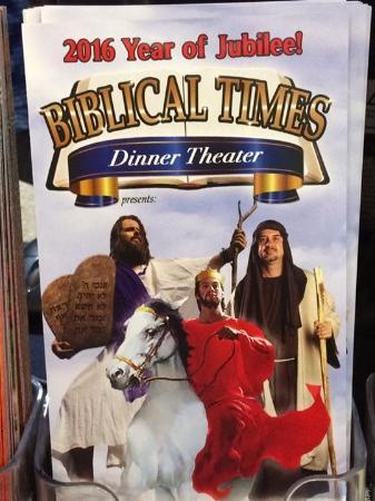 Biblical Times Dinner Theater: Biblical Times brochure