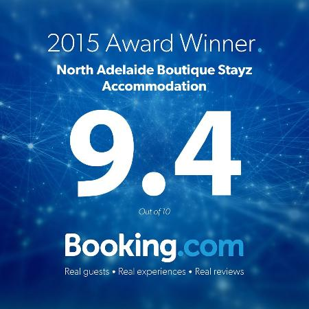 North Adelaide Boutique Stayz Accommodation: Now Rated 9.4 by Booking.com