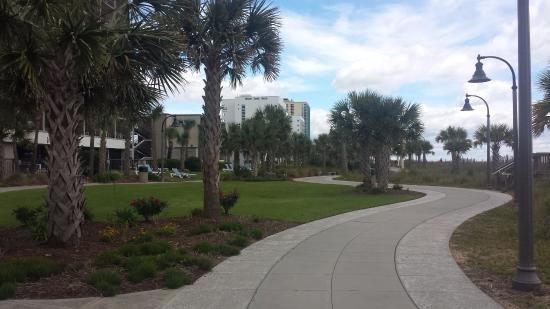 """Anderson Ocean Club & Spa, Oceana Resorts: The """"boardwalk"""" about a mile south"""