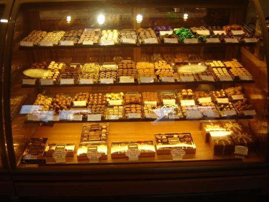 Orton, UK: The confections counter at Kennedy's