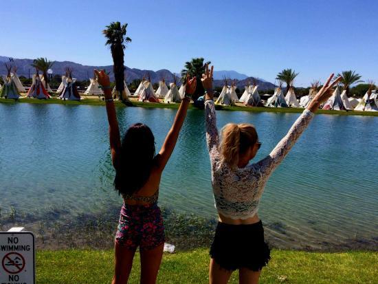 Lake Eldorado teepees - sleep 2  - Picture of Coachella