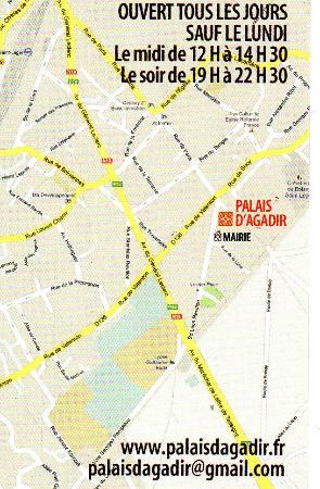 Le Palais DAgadir Verso Carte De Visite