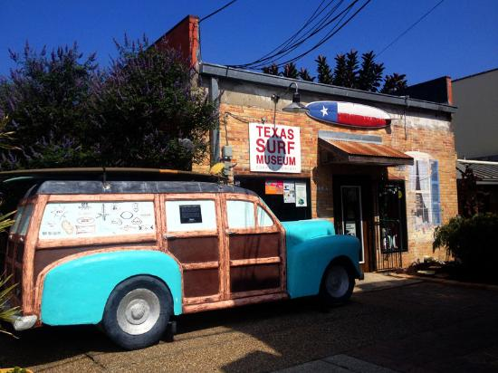 Texas Surf Museum: Fiberglass Woody at the Entrance