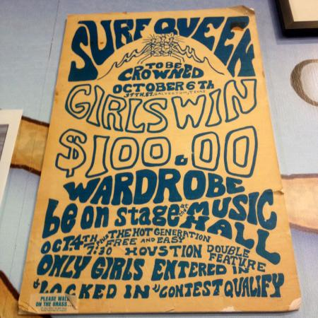 Texas Surf Museum: Surf Queen: The Hot Generation / Vintage Poster