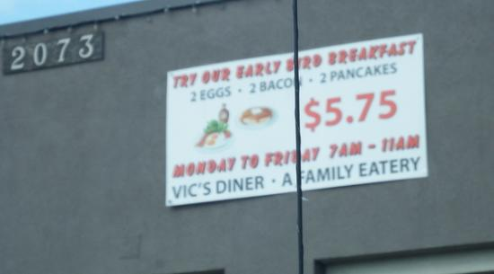 Vic's Diner: Vic's Breakfast Special -