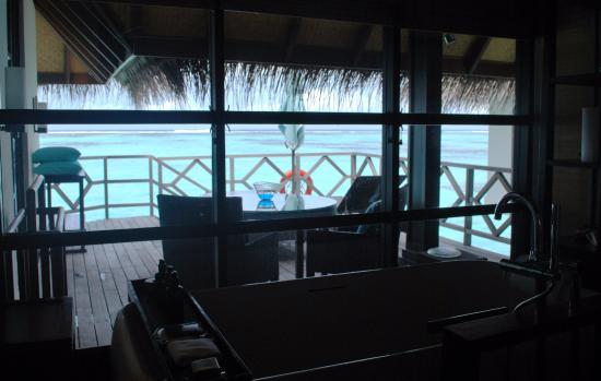 Four Seasons Resort Maldives at Kuda Huraa: View from our bathroom