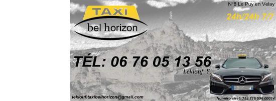 carte de visite taxi Carte de visite   Picture of Taxi Bel horizon, Le Puy en Velay
