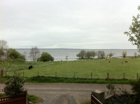 Bay Cottage Bed & Breakfast: Vue sur le Lough Neah dans la grisaille